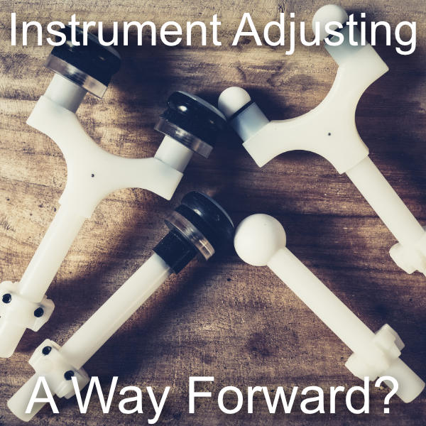 A photo of adapters from IMPAC Inc's Arthrostim Chiropractic instrument adjusting tool.